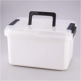 XZHMYYH Medicine box Household items cosmetics storage box plastic toolbox medicine chest (Color : White, Size : Small)