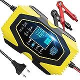 Yomao Autobatterie Ladegerät 6A 12V/3A 24V Vollautomatisches Batterie-Ladeerhaltungsgerät mit...