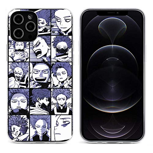 Shinso Collage My Hero Academia Transparent Soft Silicone Phone Case for iPhone 12 Pro Max Mini Cover Shell(Wireless Charging) transparent-style1 iPhone 12Pro