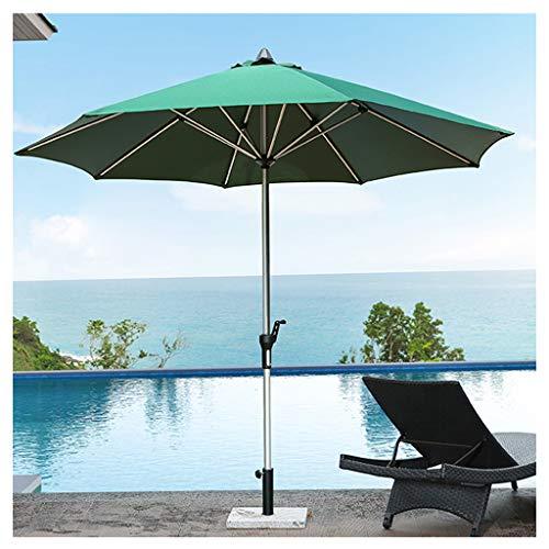 YDDZ Sombrilla al Aire Libre Sombrilla Plegable de Playa Impermeable y Protector Solar Paragüero de Aleación de Aluminio Manivela Apertura y Cierre Convenientes Diseño Fácil de Usar
