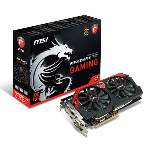 MSI V303-020R R9 270X Gaming Grafikkarte (4GB GDDR5, 2x DVI, HDMI, DP, 2S, 1 GPU)