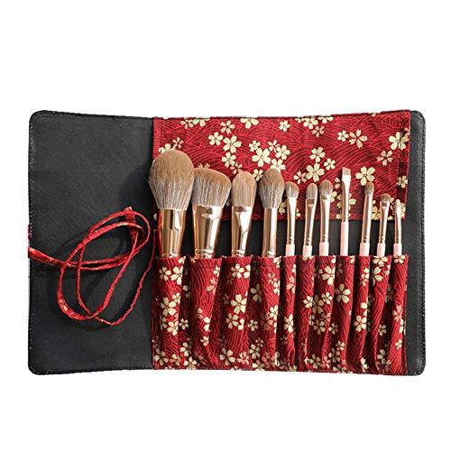 Lot de 11 pinceaux de Maquillage - Poils à séchage Rapide, Outil applicateur cosmétique Professionnel | Doux et Doux pour la Peau