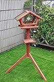 Petsfit Mangeoire à Oiseaux en Bois Massif/Table pour Oiseau/Mangeoire avec bardeaux d'asphalte, Mangeoires en Plein air, 119cm Haute (Moyenne)