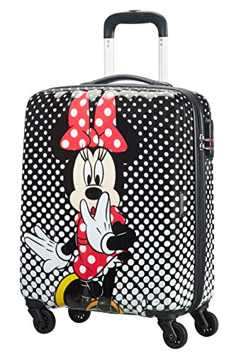 American Tourister Disney Legends Spinner S Valigia per bambini, 55 cm, 36 L, Multicolore (Minnie Mouse Polka Dot)