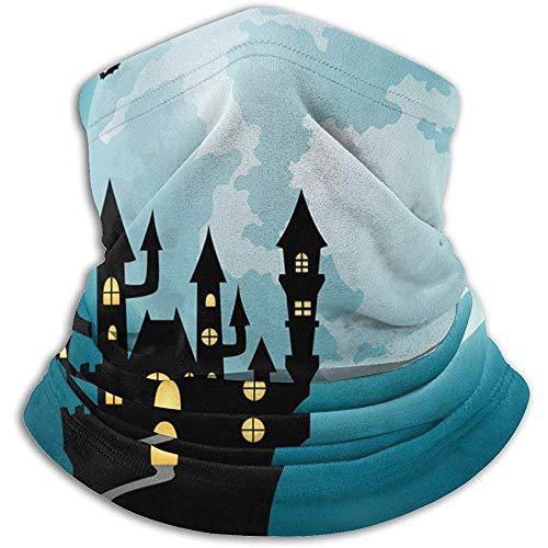 Archiba Nuit d'halloween avec château et citrouilles Cache-Cou-Cache-Cou d'hiver pour Temps Froid