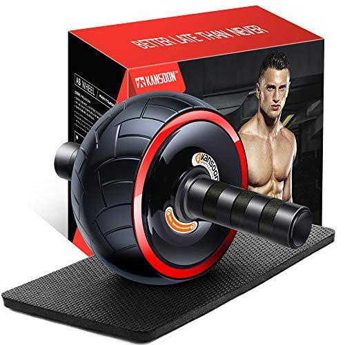 Ab Roller Wheel Exercise Equipment - 3/4 Ab Wheel Innovative Ergonomic Abdominal Roller Ab Workout Equipment - Ab Roller for Home Gym - Ab Machine for Ab Trainer -Abs Roller with Knee Pad (Wide Wheel)