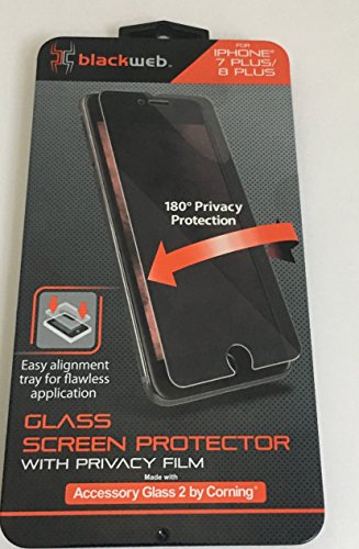 Blackweb BWB17WI042 Glass Screen Protector with Privacy Film for iPhone 7 Plus/8 Plus