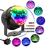 Disco Lights With RGB-7 Color, Sound Activated And Remote Control Disco Stage Strobe