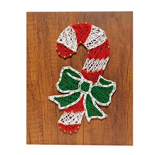freneci Kits de Arte de Alfileres de Hilo Creativos Decoración de Bricolaje Tablero de Madera Pintura Decorativa - Sin Marco
