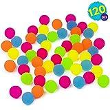 THE TWIDDLERS 120 Mini Balles Rebondissantes Couleur Fluo - Jeux IDéal pour Les Sacs De Fête, Cadeaux, Pochettes-Surprise Et Prix Récompenses | Activité Jouet D'intérieur Extérieur pour Enfants