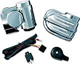Kuryakyn 7743 Super Deluxe Wolo Bad Boy Air Horn Kit for 1995-2019 Harley-Davidson Motorcycles, Chrome