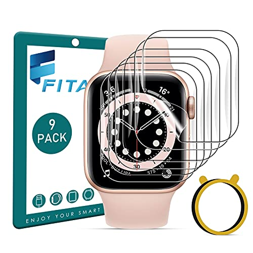 FITA [9 Stücke] Schutzfolie Kompatibel mit Apple Watch Series 7 41mm /6/5/4/SE 40mm /3/2/1 38mm, Weiche TPU Anti-Kratzen Folie Bildschirmschutzfolie Kompatibel mit iWatch Series 41mm/40mm/38mm