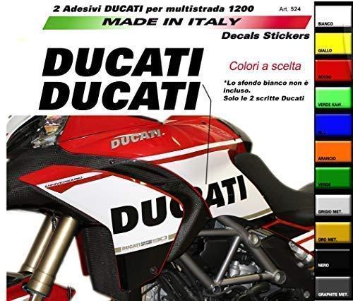 Vulturbike Aufkleber Ducati Für Seiten Multistrada 1200 2010-2014 - Verde Kawasaki