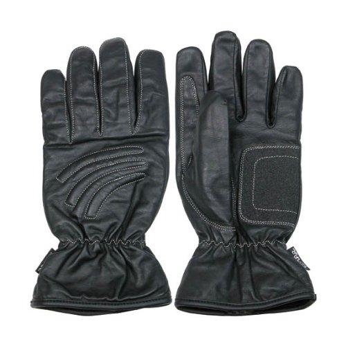 Ototop Motorrad Handschuhe Leder, Schwarz, Größe XL