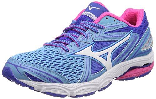 Mizuno Wave Prodigy Wos, Zapatillas de Running para Mujer, Multicolor (Aquarius/White/pinkglo 02), 36.5 EU
