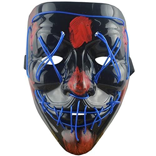 Bontannd Masques De Purge pour Halloween, LED Masque Effraya