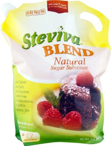 Steviva Blend - Erythritol, Stevia Blend NonGMO Low Carb Sweetener (5 lb bag)