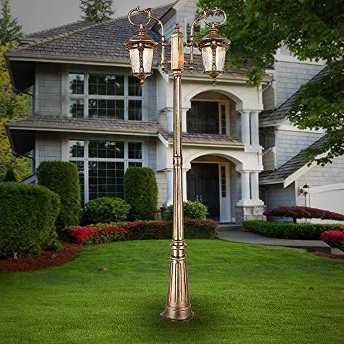 HUAQINEI European Retro Waterproof Street Light Outdoor Landscape High Pole Villa Community Vine Garden Lamp Aluminum Column Headlight Pillar Post Lawn Decoration Villa Floor Light (Size : 210cm)