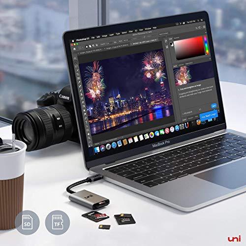 USB C auf Micro SD + SD Kartenleser, uni SD Adapter[Thunderbolt 3], kompatibel für Chromebooks und viele weitere Notebooks - 2