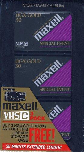 Cheap Maxell VHS-C 3-Pack video cassettes