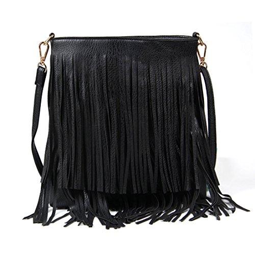 Lanpet Women Fringe Tassel Cross Body Bag Leisure Shoulder Bag