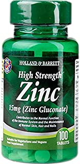 Holland & Barrett High Strength Zinc Tablets 15mg 100's