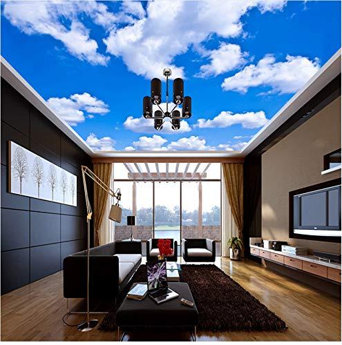 Zybnb Deckenbild Blauer Himmel Und Weiße Wolken Wandbilder Für Das Wohnzimmer Schlafzimmer Decke Hintergrund Wandbild Tapete