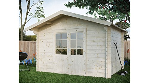 LUOMAN Gartenhaus Kanada 1/44, BxT: 300x230 cm, 44 mm, inkl. Aufbau Natur