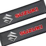 2 Almohadas Decorativas De Fibra De Carbono para CinturóN De Seguridad, automóviles Seguridad Accesorios, para Suzuki Grand Vitara SX4