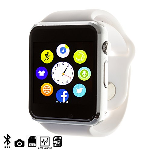 DAM DMQ238 - Smartwatch G08, Color Blanco