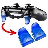 eXtremeRate 2 Pares de Gatillo Extensor L2 R2 Disparador de bontones Ajustables quickfire Trigger para Mando de Playstation 4 PS4 con JDM-030(Azul)