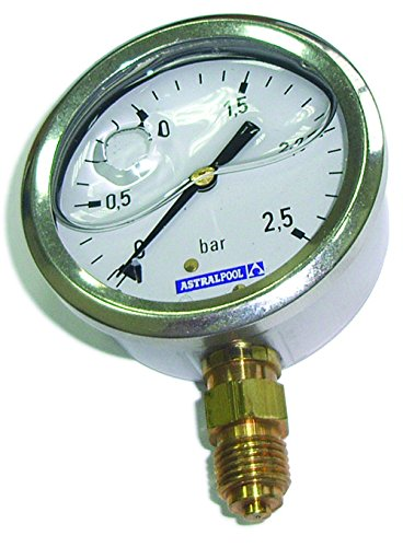 Fluidra 04215 – Manomètre 0 – 10 kg/cm2 glycérine Inoxydable