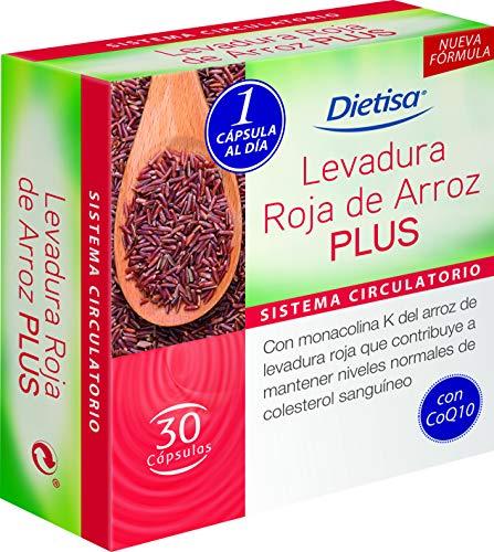 Dietisa - Levadura roja de arroz Plus - 30 cápsulas 21.5 gr