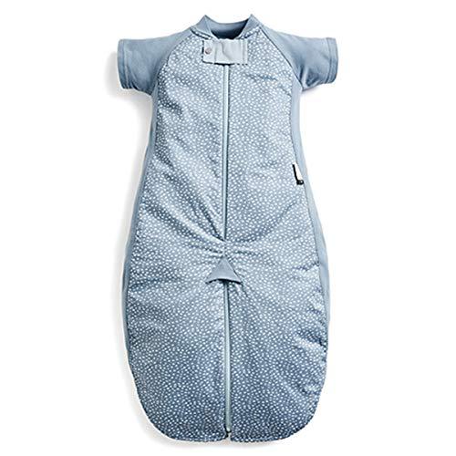 ergoPouch Schlafsack Baby, Sommerschlafsack, Strampelsack, Sommer, Wärmereguliering - Tog 1.0-100% Bio Baumwolle, mit Ärmeln - Tog 1.0 - Pink - 8-24 Monate (90cm)