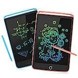 SUNLU Tableta de Escritura LCD, 8.5 Pulgadas Tablet Niños con Bloqueable Botón Borrado, Schermo Colorato, Pizarra Digitalac con Magnete, 2 Paquetes, Rosa y Azul