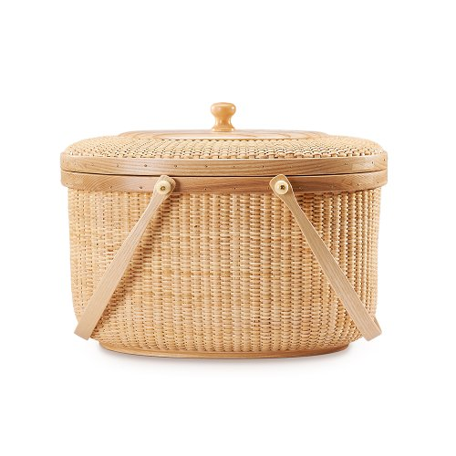 Why Choose Teng Tian Picnic Basket Handmade Rattan Picnic Basket with Hardwood Walnut Lid and Base