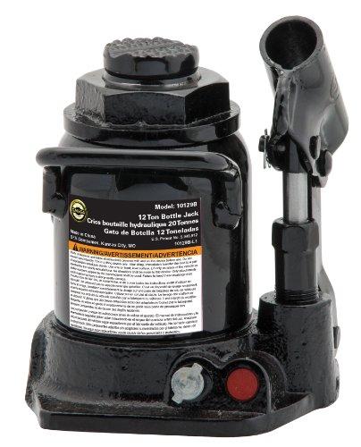 Omega 10129B Black Shorty Hydraulic Bottle Jack - 12 Ton Capacity