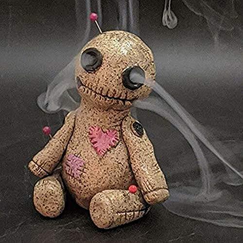 Voodoo Doll - Quemador de Incienso, Soporte de Incienso para reflujo de Incienso, Resina, Adorno Hecho a Mano, Protege tu Amor, Alivia el estrés, espíritu Inspirado