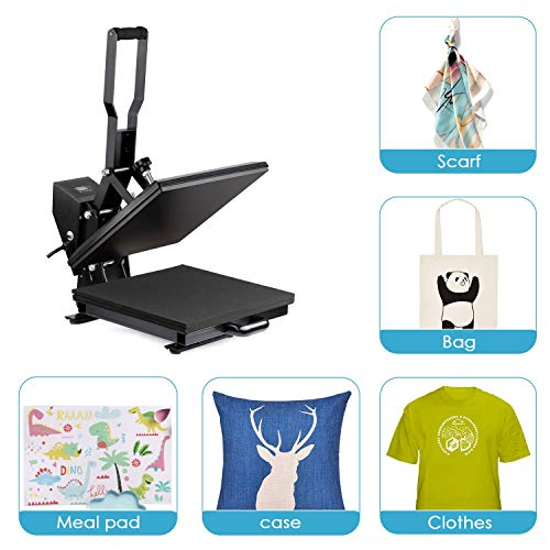 "Heat Press Machine - TUSY Digital Heat Transfer Sublimation 15"" x 15"", Industrial Quality T Shirt Printing Machine"