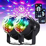 U`king Musikgesteuert Discokugel Blitzlichter, RGB Disco Lichteffekte, 7 Farben Party Lampe mit...