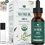 Naturenics Tea Tree Essential Oil-100% USDA Organic Melaleuca...