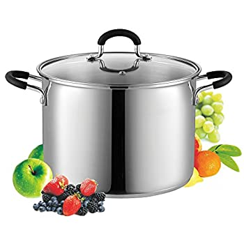 Cook N Home Quart Stockpot 8 QT Metallic