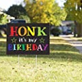 Vispronet Honk Its My Birthday Yard Sign – 23in x 17in Weather Resistant Yard Sign with Stake – Outdoor/Indoor Birthday Decorations and Décor