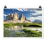 Bilderwelten Poster - Südtiroler Zinnen und