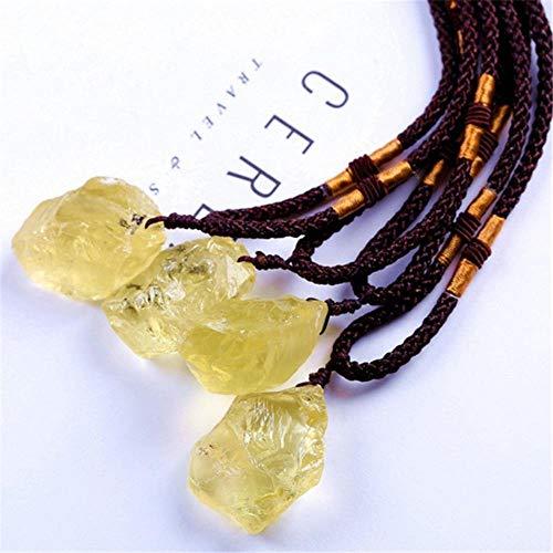 SDJH Colgante de Piedra Natural Irregular Crytsal Colgante de Citrino púrpura Blanco Collar de Cristal de Cuarzo Joyas Piedras Preciosas de curación, Citrino