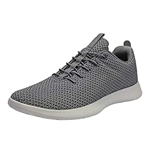 DREAM PAIRS Men's Grey Fashion Sneakers Lightweight Breathable Walking Shoes Size 10 M US Liberty-M