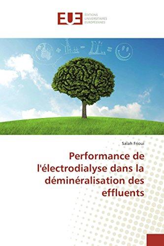 Performance de l'électrodialyse dans la déminéralisation des effluents