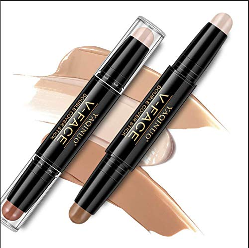 Concealer, Contour Sticks, Contour kit, Highlight Stick, Contour and Highlight in One, Makeup Concealer Contour Pen,Professional Waterproof Concealer Contouring Pen For Every Skin Type, 3PCS