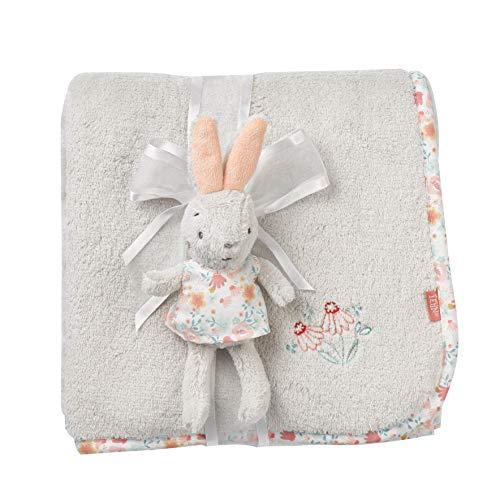 FEHN 062359 knuffeldeken haas/knuffeldeken voor baby's en peuters vanaf 0+ maanden - om te knuffelen, als kruipmat, snoeffeldoek of deken voor thuis en onderweg