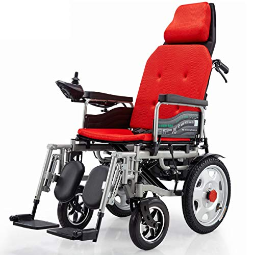 The Electric Wheelchair Is Light And Foldable, And Can Be Adjusted. The Intelligent Automatic Four-Wheeled Scooter For The Elderly And The Disabled Can Lie Down